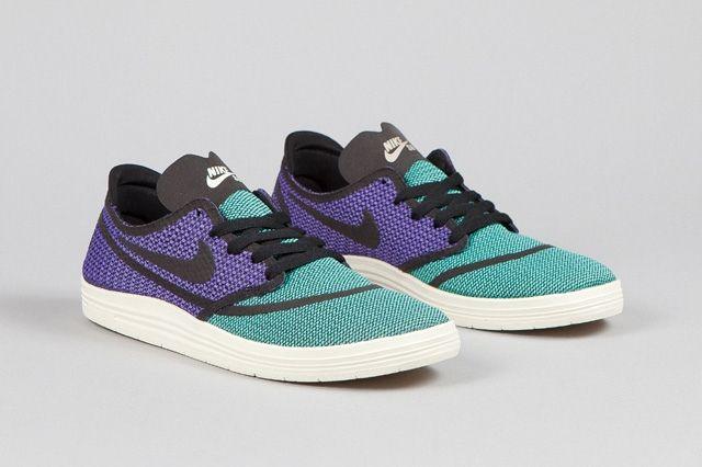 Nike Sb Lunar One Shot Woven Mint Hyper Purple 4