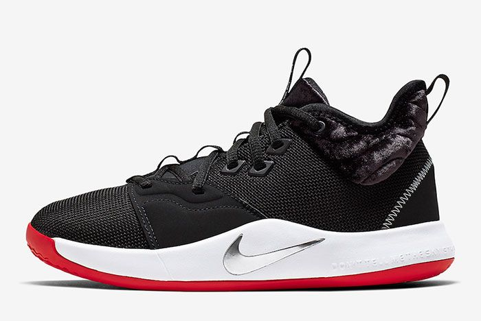 Nike Pg 3 Gs Velour Aq2462 016 Lateral