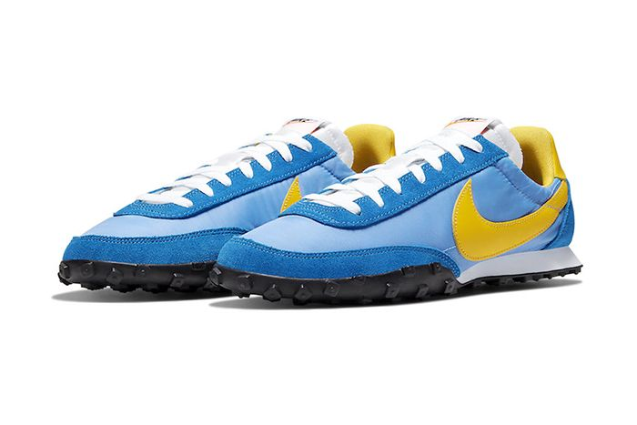 Nike Waffle Racer University Blue Battle Blue Black Amarillo Cn5449 400 Release Date Pair