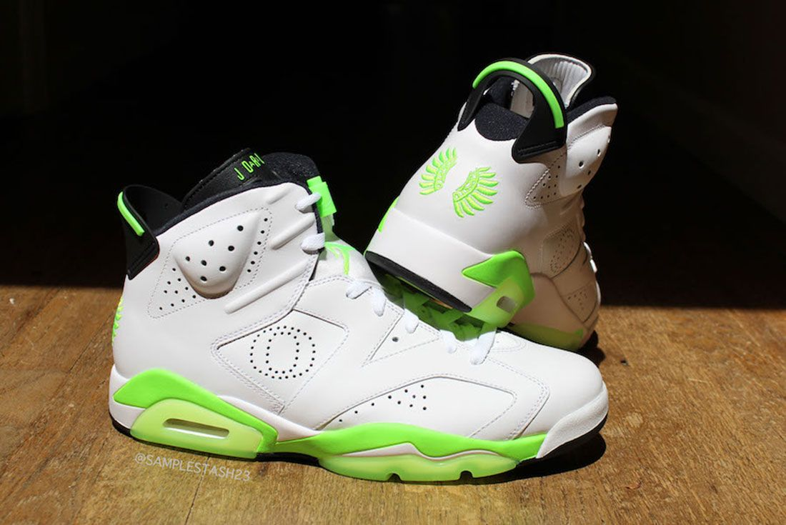 Air Jordan 6 Oregon Womans Basketball Pe 1 Pair Side