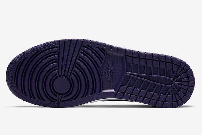 Air Jordan 1 Low Court Purple 553558 125 2019 Release Date 1 Sole