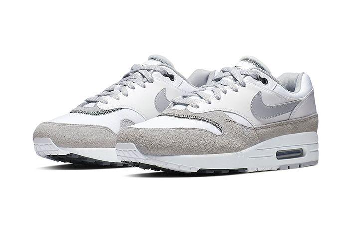 Nike Air Max 1 White Black Wolf Grey Ah8145 113 Release Date Pair