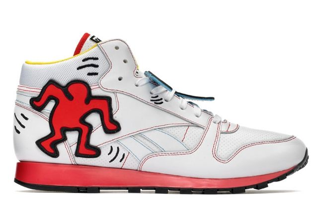 Reebok Keith Haring Classic Leather Mid Lux Profile 1