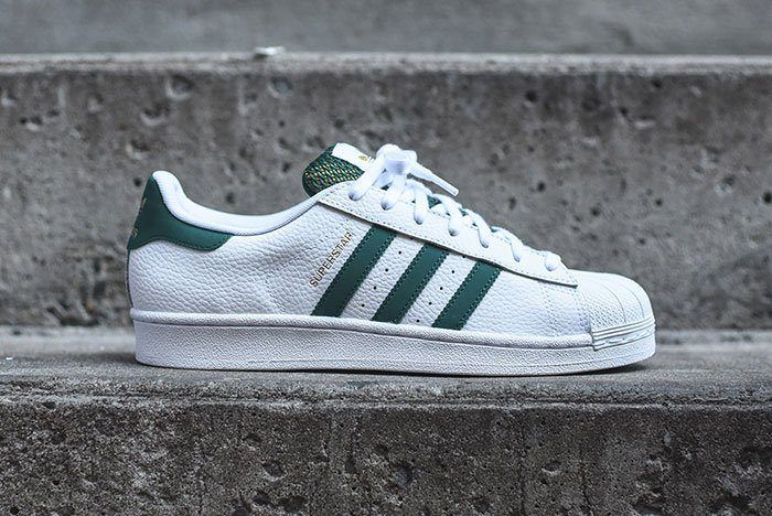Adidas Superstar White Green Mesh 6