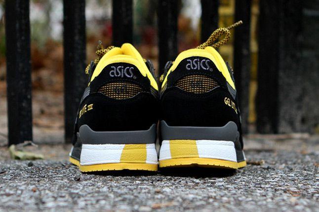 Asics Gel Lyte Iii Black Yellow Kith Heel 1