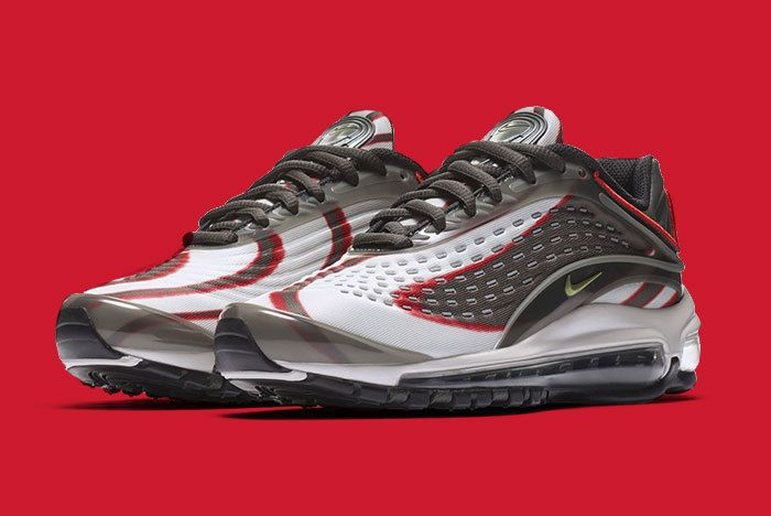 Nike Air Max Deluxe Grey Red 1