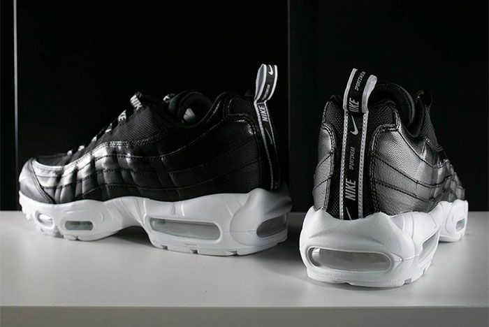 Nike Air Max 95 Black White Overbranding 8