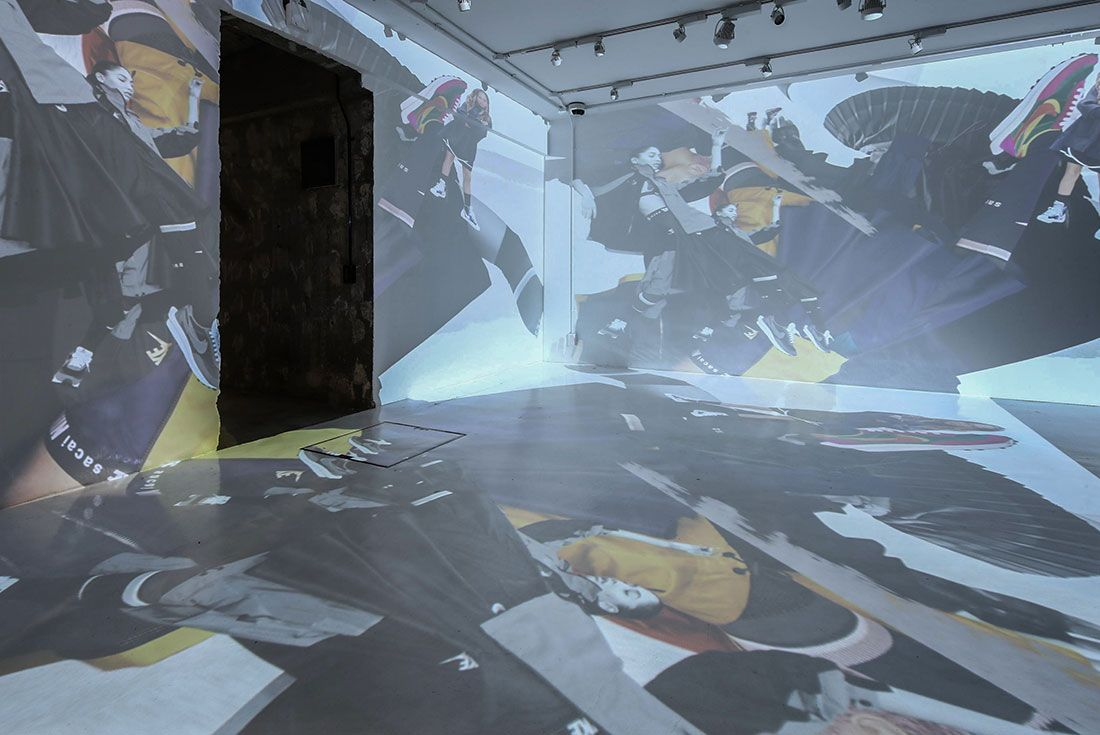 Tokyo Pop Up Launch Sacai X Nike Party Projection1