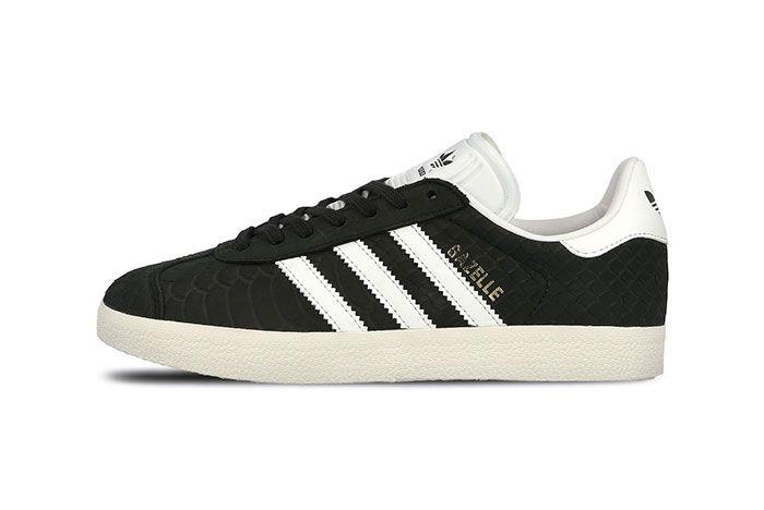 Adidas Gazelle Wmns Core Black Crystal White Chalk White 6