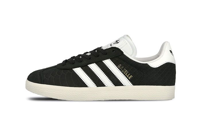 Adidas Gazelle Wmns Core Black Crystal White Chalk White 6