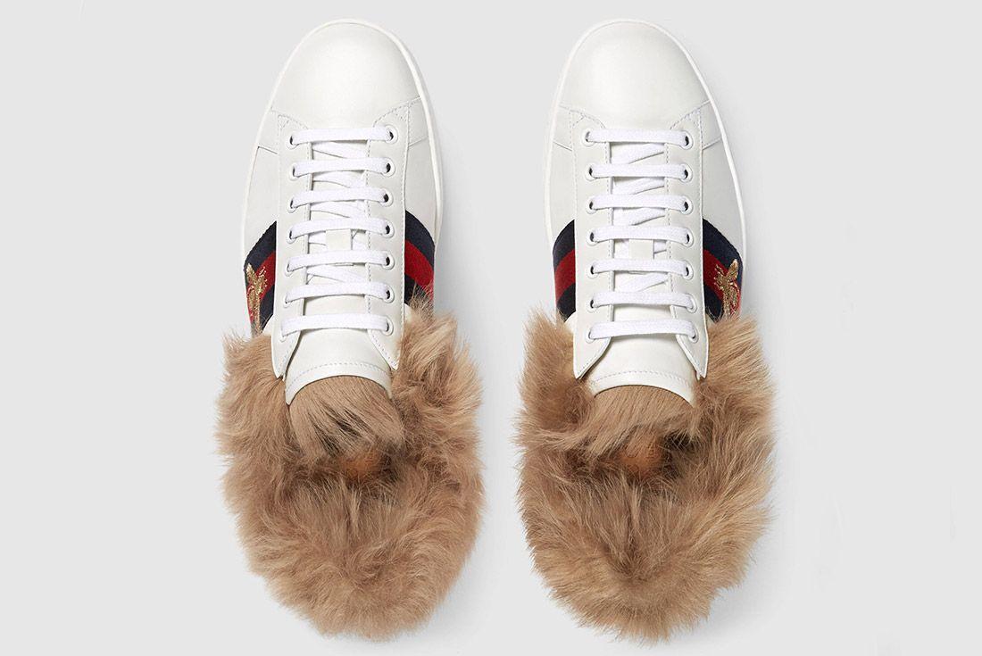 Gucci Ace Sneaker With Lamb Fur Sneaker Freaker 5