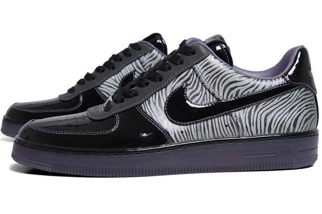 Nike Air Force 1 Downtown Qs Zebra Side 1