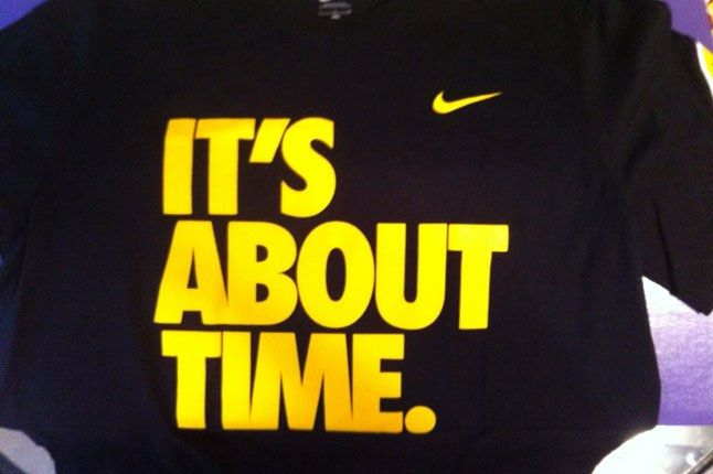 Nike Its About Time Tee 1