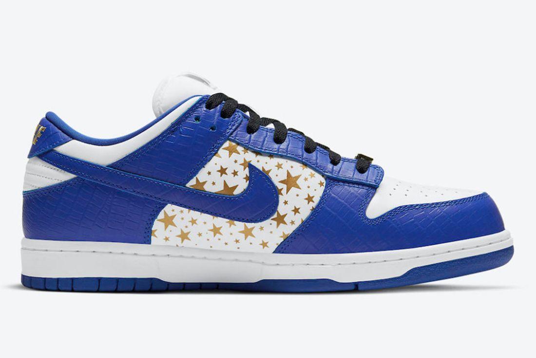 Supreme x Nike SB Dunk Low 'Hyper Blue' official