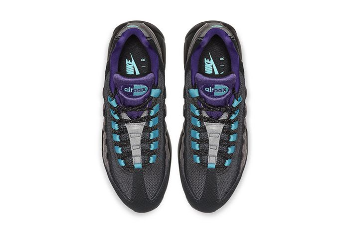Nike Air Max 95 Black Grape Black Court Purple Teal Nebula Ao2450 002 Release Date Top Down