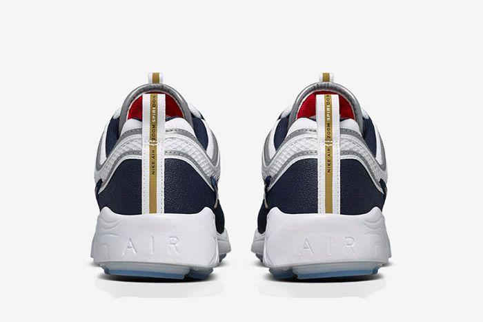 Nike Air Zoom Spiridon White Gold Navy Blue 1