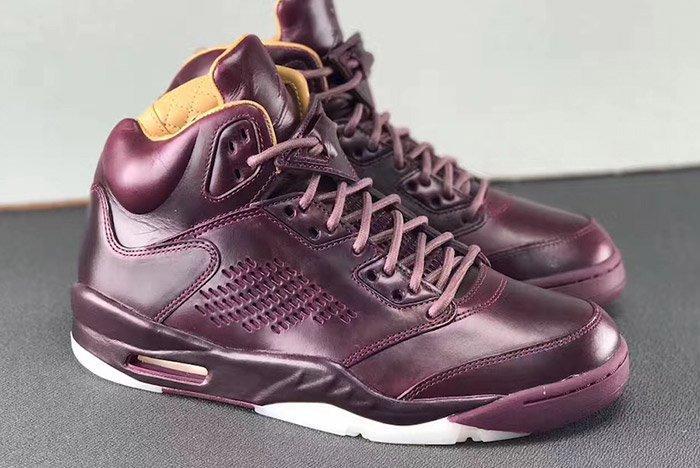 Air Jordan 5 Premium Bordeaux Oxblood Leather 9