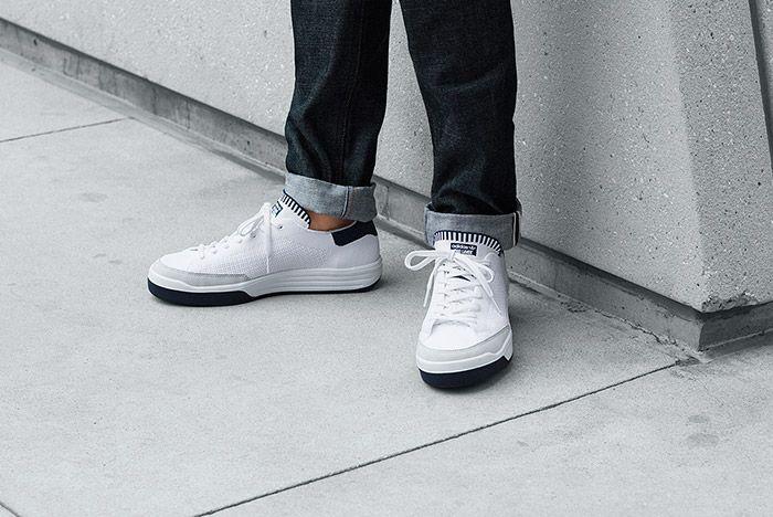 Adidas Rod Laver Primeknit Pk White On Feet 3