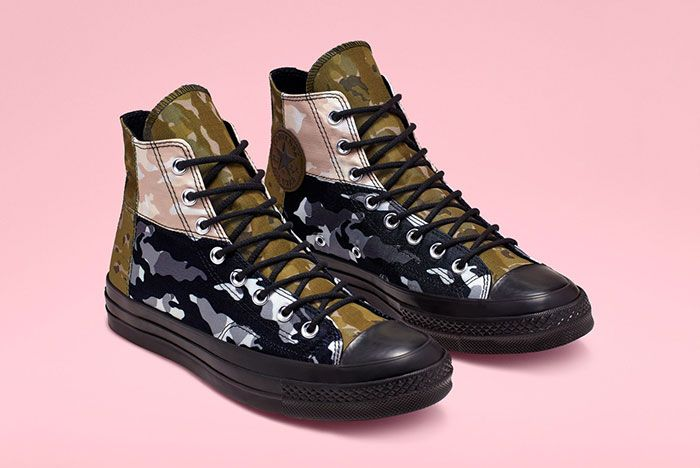Converse Chuck 70 High Mixed Camo Front Angle