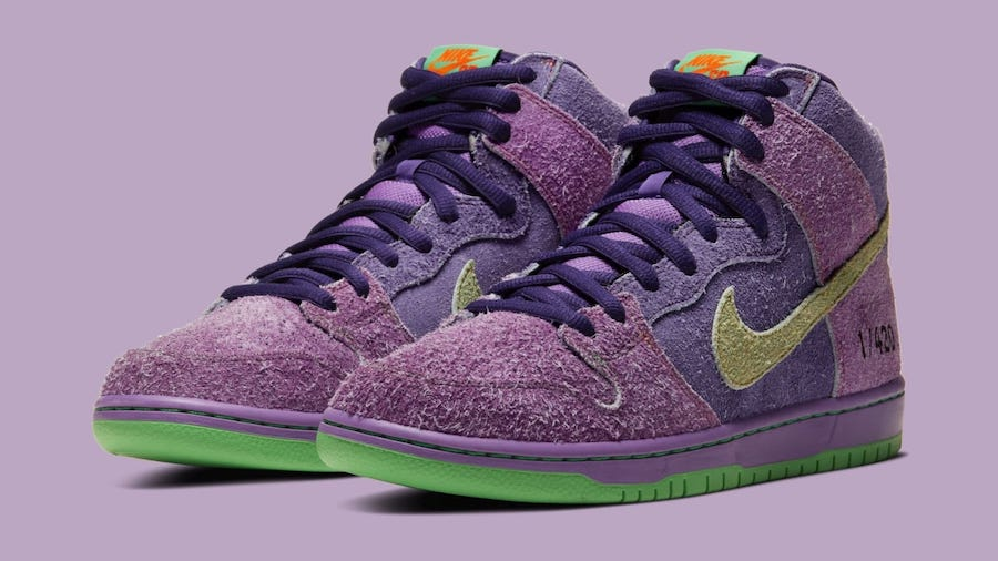 Nike SB Dunk High 420 Reverse Skunk toe