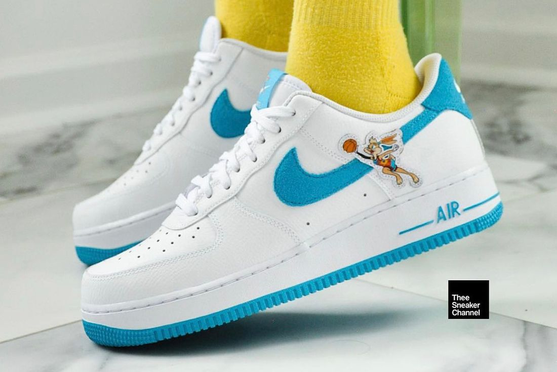 Nike air force 1 hare up close