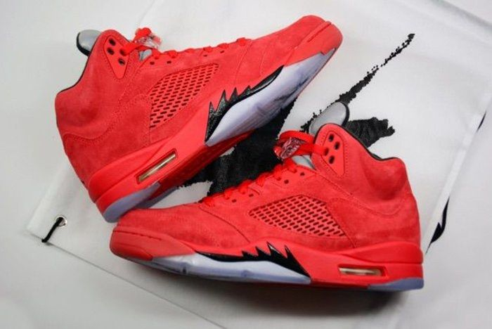 Air Jordan 5 Red Suede2