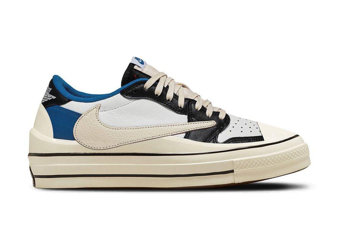 The Shoe Surgeon Air Jordan 1 Low Travis Fragment Converse