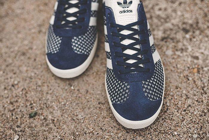 Adidas Gazelle Primeknit Navyblue White 3