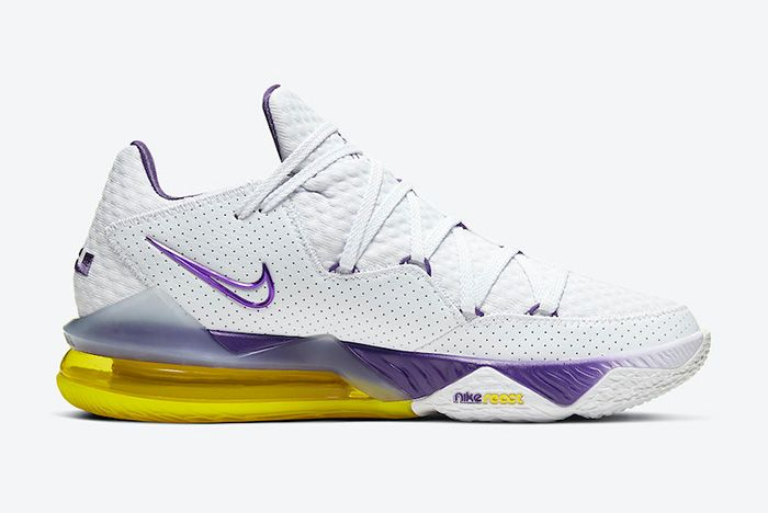 Nike Le Bron 17 Low Lakers Home Cd5007 102 Medial