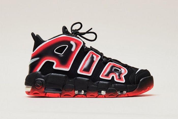 Nike Air More Uptempo Laser Crimson Side