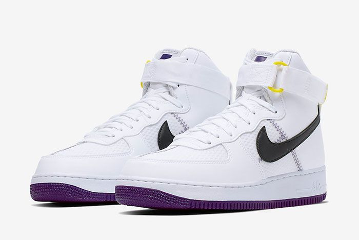 Nike Air Force 1 High White Court Purple Ci1117 100 Front Angle