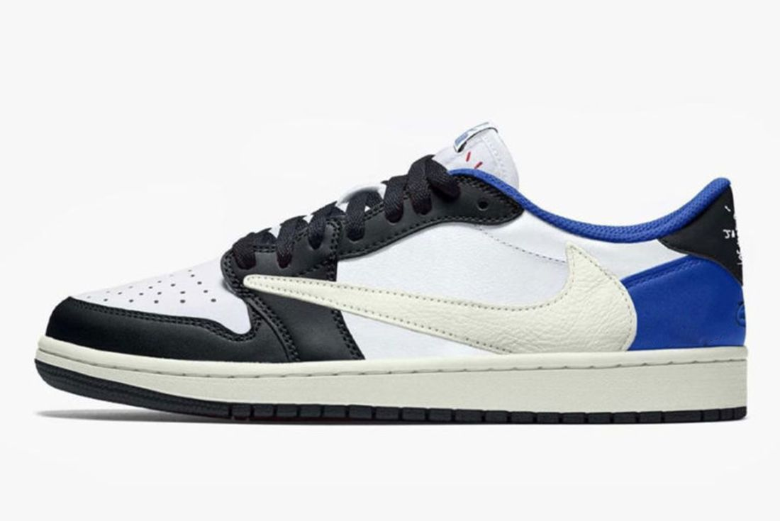Travis Scott x Fragment x Air Jordan 1 Low mock-up