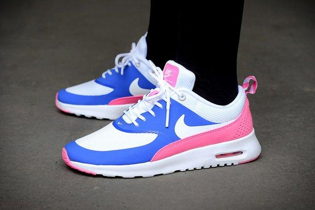 Nike Wmns Air Max Thea Game Royal White Pink Glow Wolf 1