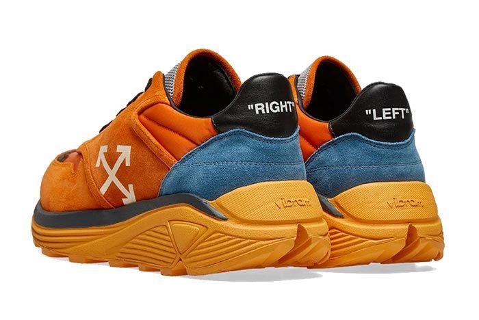 Off White Jogger Orange Heel Shot On White