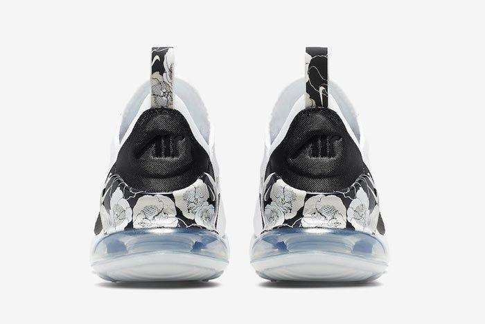 Nike Air Max 270 Black White Floral Heels