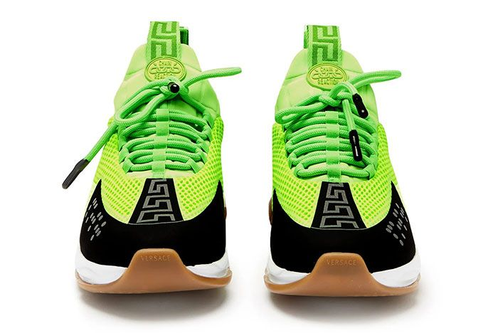 Versace Cross Chainer Green White Gum Runway Ss19 Release Information 3 Pair Front
