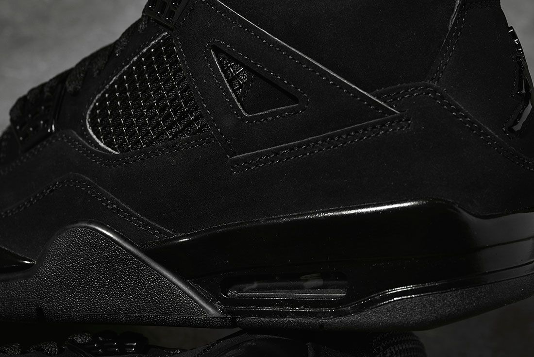 Air Jordan 4 Black Cat 2020 Retro Jd Sports Rear Detail