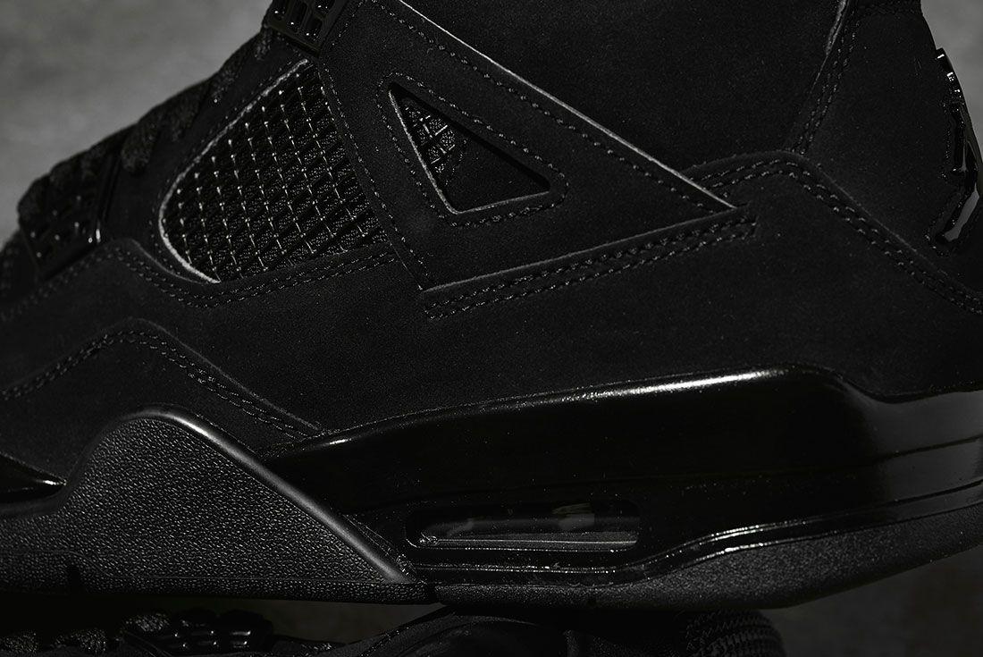 Air Jordan 4 Black Cat 2020 Retro Jd Sports Rear Detail