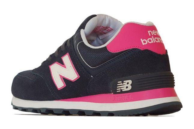 New Balance 574 Navy Pink Reverse 1