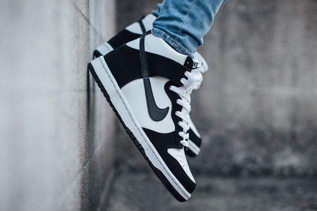 Nike Dunk High Black White 2