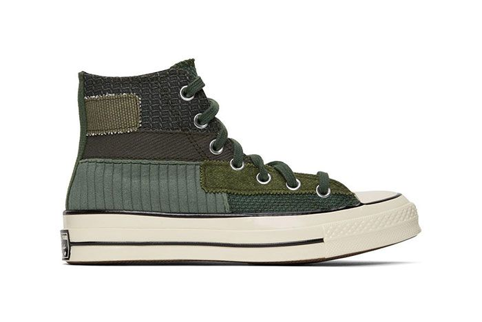 Converse Patchwork Chuck 70 High Sneakers Green Lateral