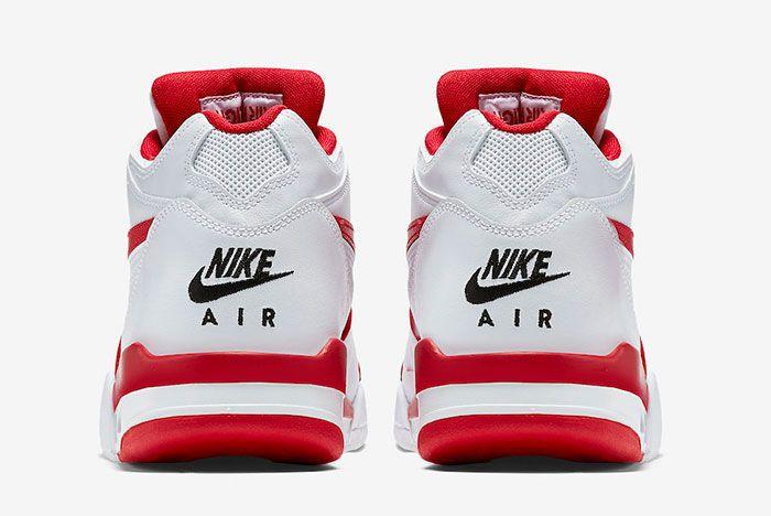 Nike Air Flight 89 White University Red 819665 100 Heel