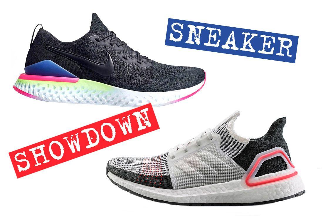 aislamiento Acuario pueblo  Sneaker Showdown: adidas UltraBOOST 2019 or Nike Epic React Flyknit 2? -  Sneaker Freaker