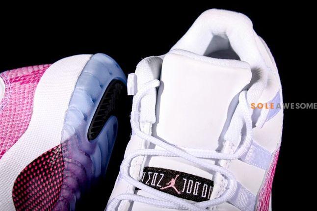 Air Jordan 11 Low Snake Skin Pink Tongue 1