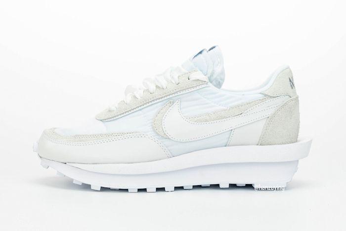 Sacai X Nike Ldwaffle White Lateral Side