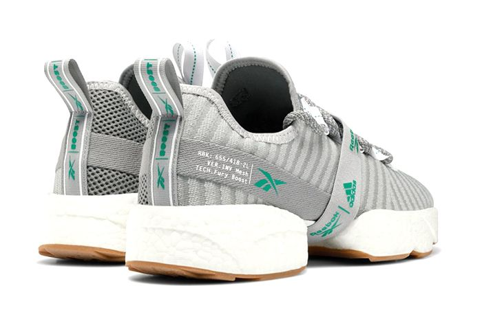 Adidas Reebok Sole Fury Boost True Grey Emerald Fw0166 Release Date Heel