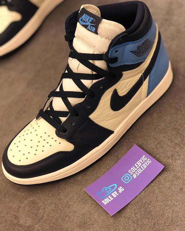 Air Jordan 1 Unc Left