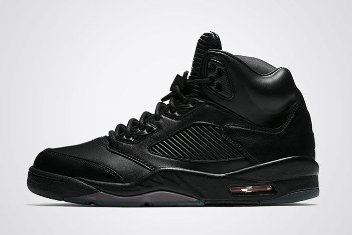 Air Jordan 5 Premium Triple Black Leather Tyhumb