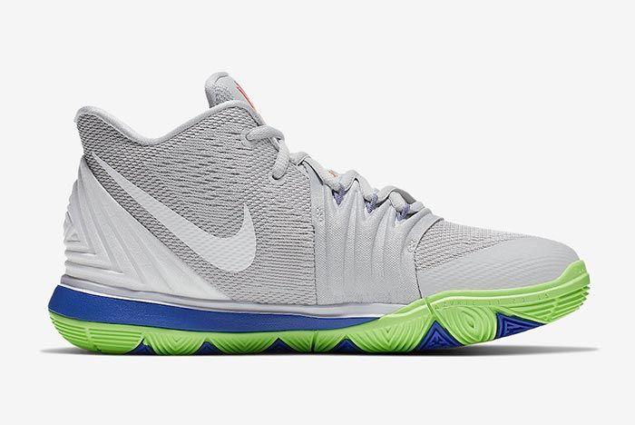 Nike Kyrie 5 Wolf Grey Lime Blast Medial
