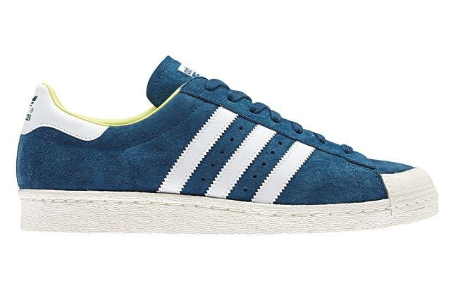 Adidas Originals Ss14 Halfshell 80S Blue Profile